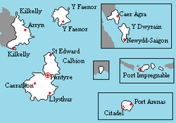 Location of Calbion